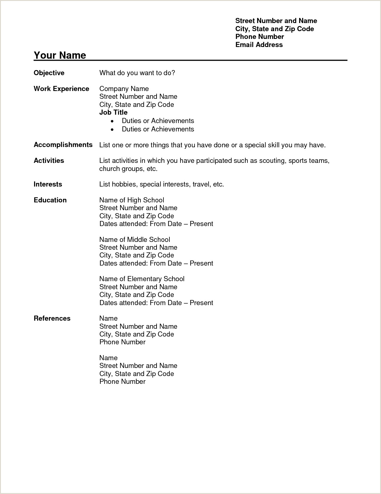 Fresher Teacher Resume format Doc Download Free Teacher Resume Templates Download Free Teacher Resume