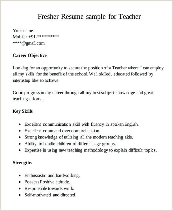 Fresher Teacher Resume Format Doc India Fresher Resume Sample – Growthnotes