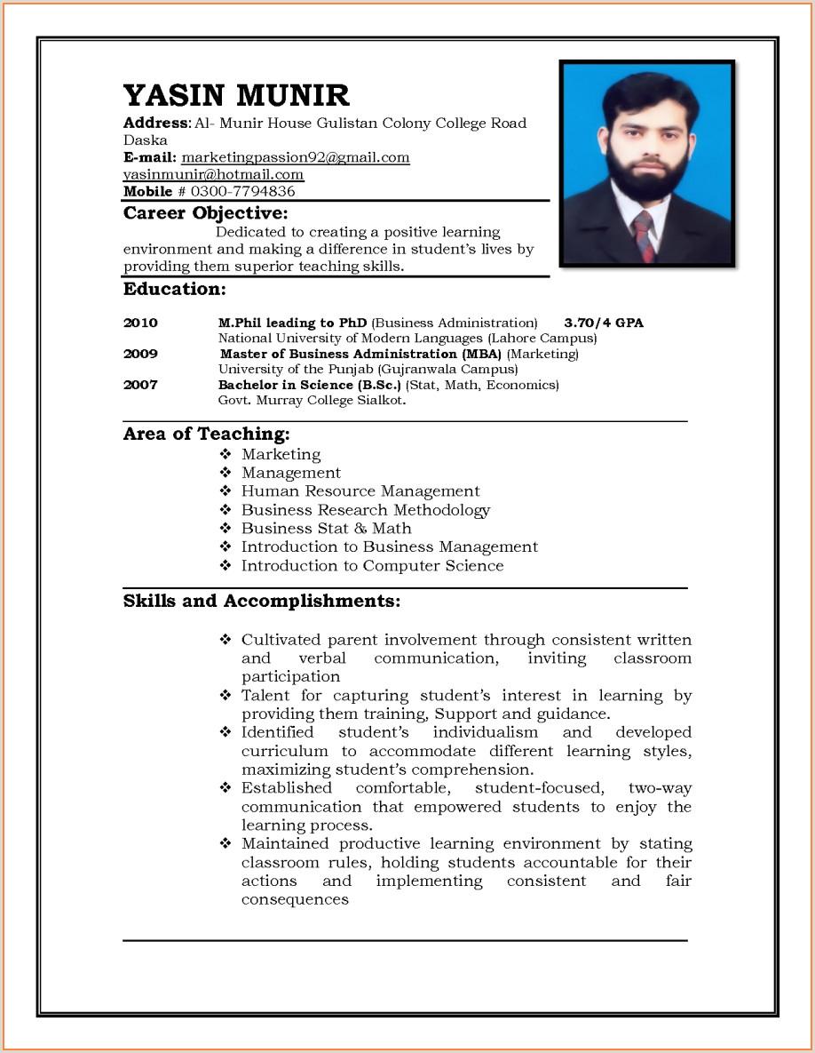 Fresher Teacher Resume format Doc Sample Resume for Teacher Job Fresher Teaching In India