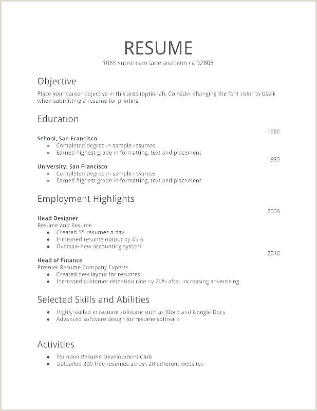 Fresher Teacher Resume format Doc Simple Resume format for Freshers – Wikirian