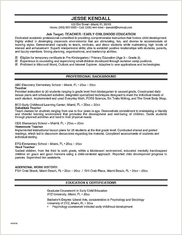 Fresher Teacher Resume format Download Resume Template for Teaching Job Sample University G