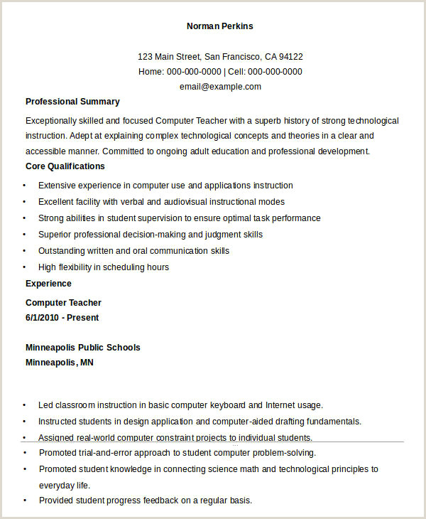 Fresher Teacher Resume format Pdf Gorgeous Fresher Teacher Resume Sample Download Resume Design