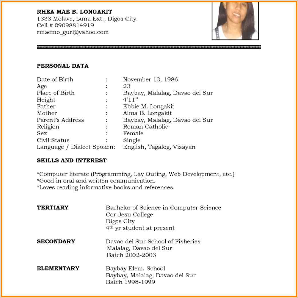 Fresher Teacher Resume format Pdf Resume format for A Fresher Teacher Choices