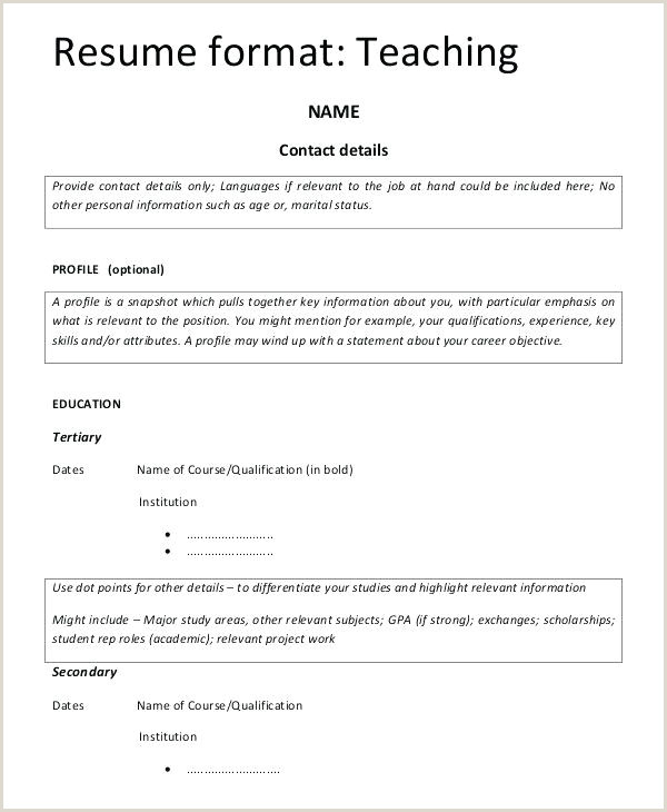 Fresher Teacher Resume format Pdf Teacher Resume format – Agarvain