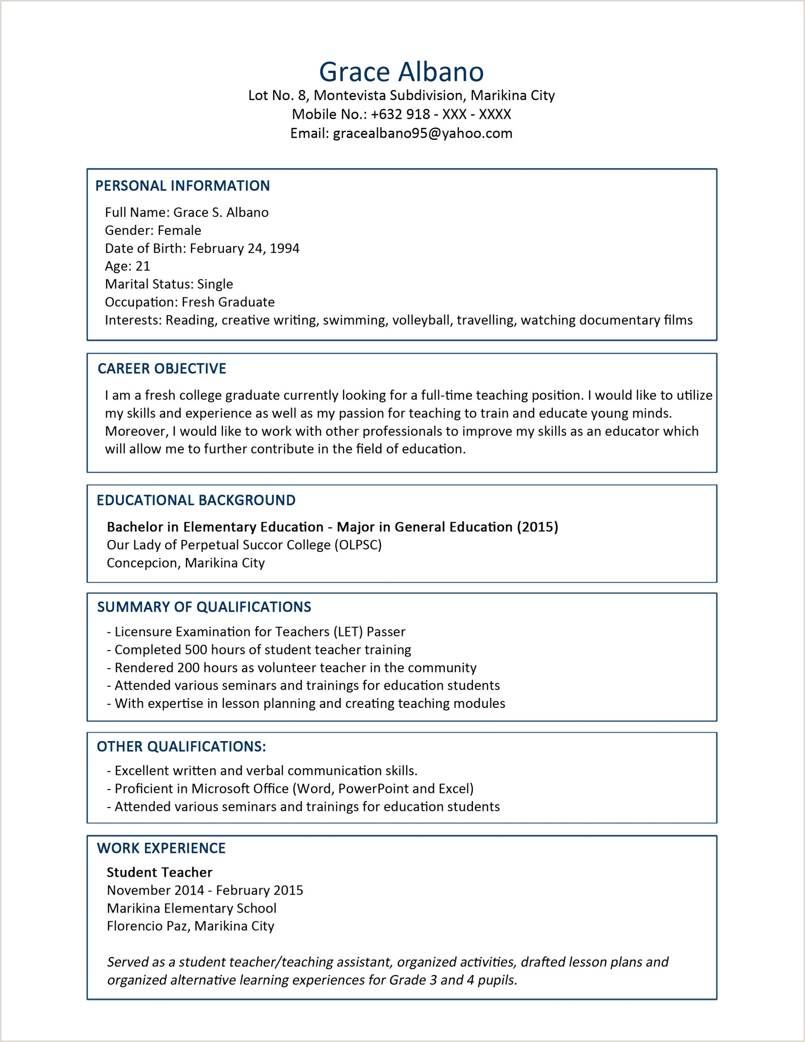 Freshers Resume format Download In Ms Word for Accountant C V 3 Resume format Sample Latest 2019