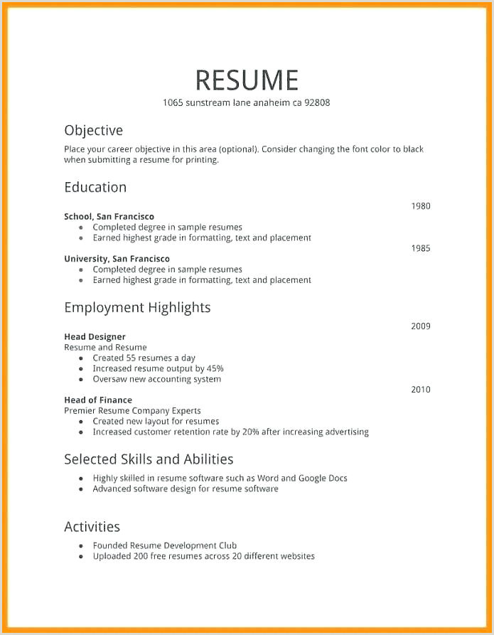 Freshers Resume format Download In Ms Word for Accountant Word Resume Template – Growthnotes