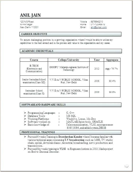 Freshers Resume format Engineers Civil Engineering Resume formats – Emelcotest