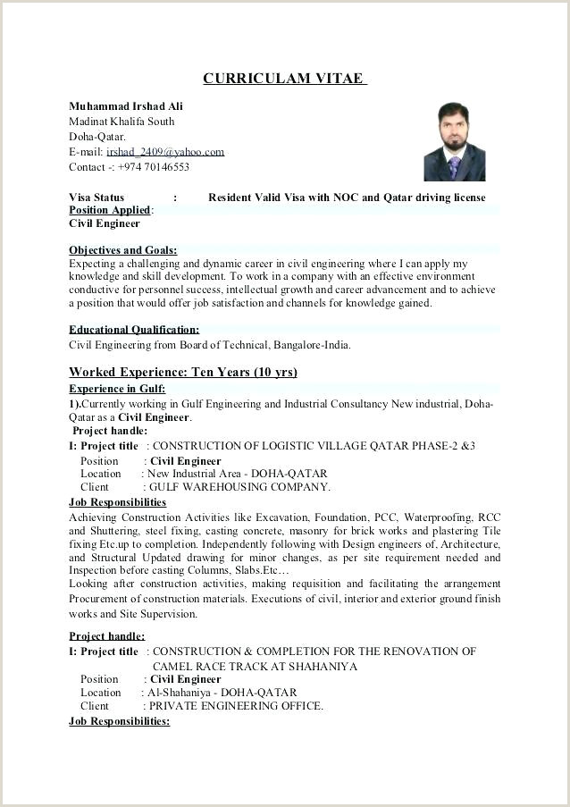 Freshers Resume format for Engineers Free Download Civil Engineering Resume formats – Emelcotest