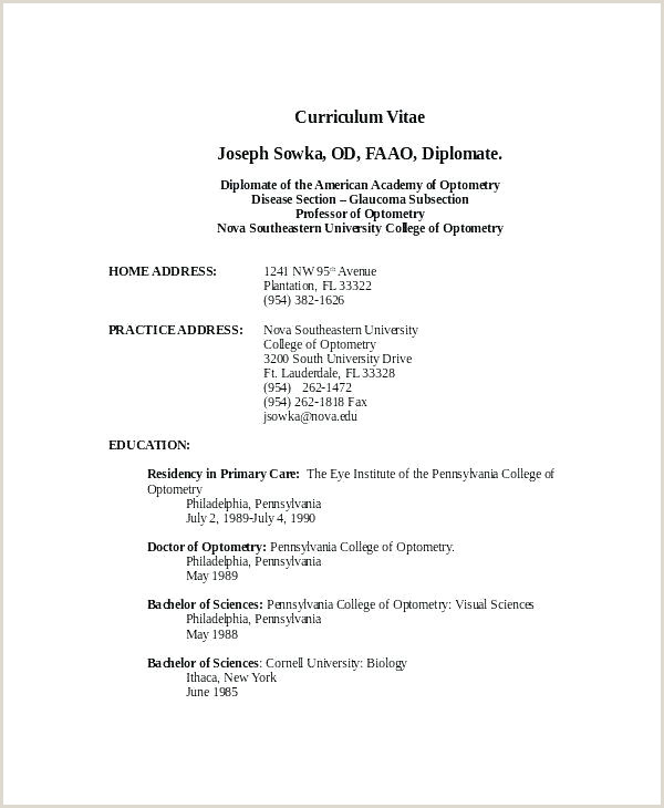 Freshers Resume format In Word Document E Page Resume Template Free Examples E Word 2 Download for