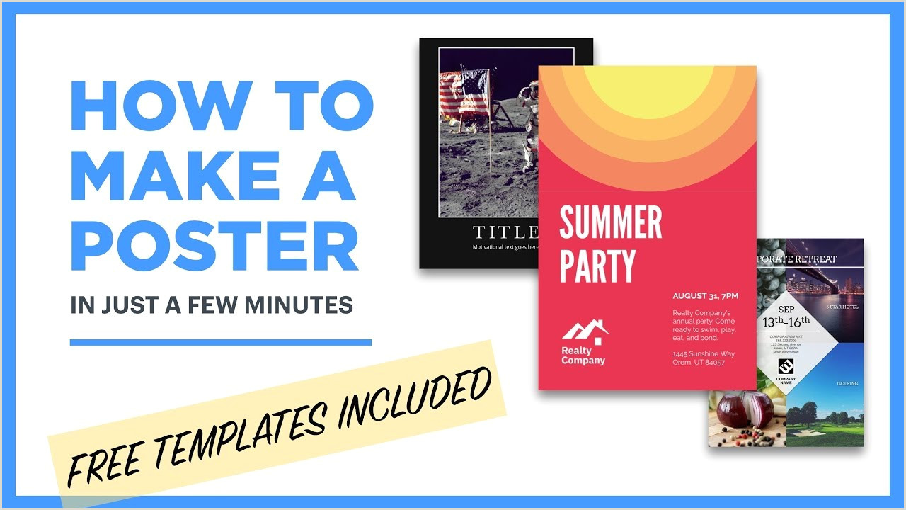 Free Poster Maker Design Posters line [18 Free Templates]