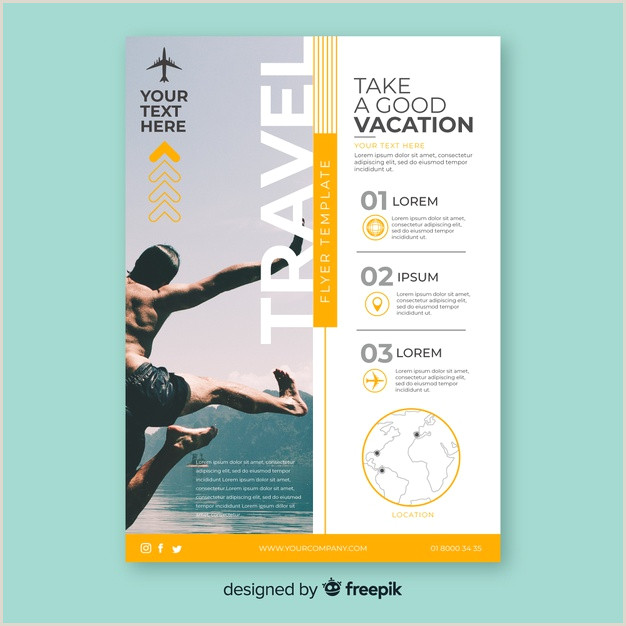 Travel poster template with photo Vector