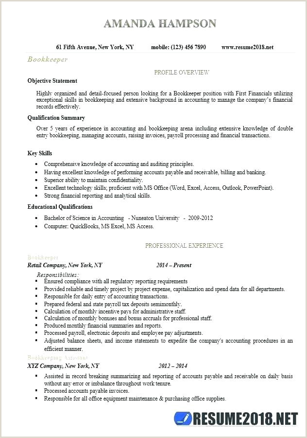 Full Charge Bookkeeper Resume Sample Accountant Job Outlook Neonatal Nurse Duties Description