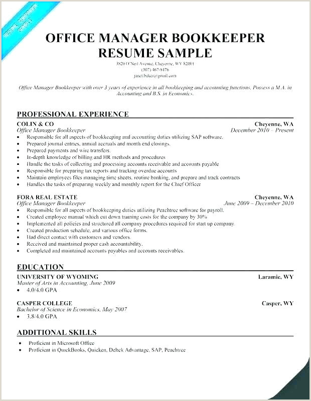 Full Charge Bookkeeper Resume Sample Fice Job Description Template Retail Bookkeeper for Resume
