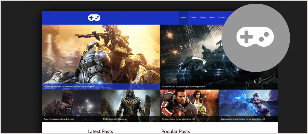 30 Best HTML Video Games Website Templates 2017