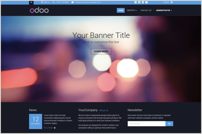 Bootstrap Themes for Odoo CMS