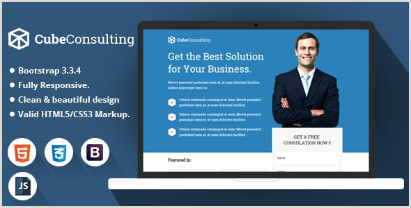 Gaming Website Template HTML5 Cube Consulting HTML Landing Page Template By Demustang