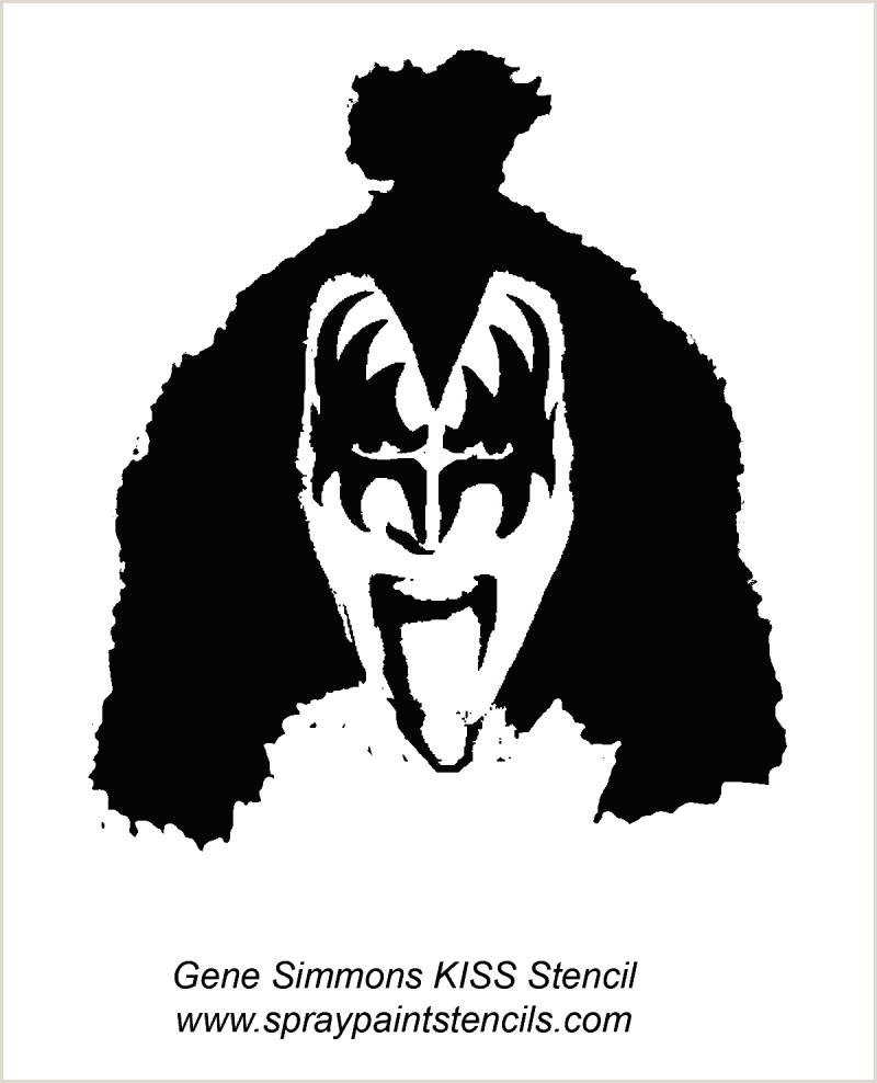 Gene Simmons Kiss Makeup Template