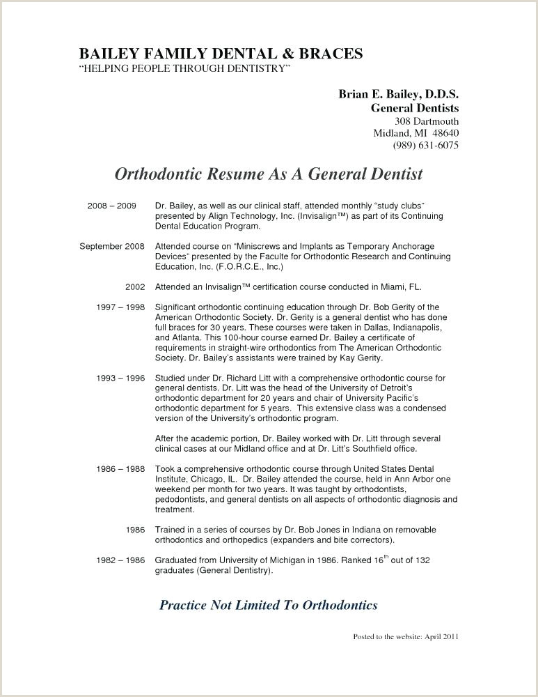 General Dentist Resume General Dentist Resume Best Sample Free Templates Dental
