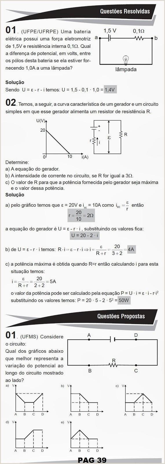 Gerador De Curriculo Gratis Simples Fsica Matemática Exerccios Resolvidos Apostilas