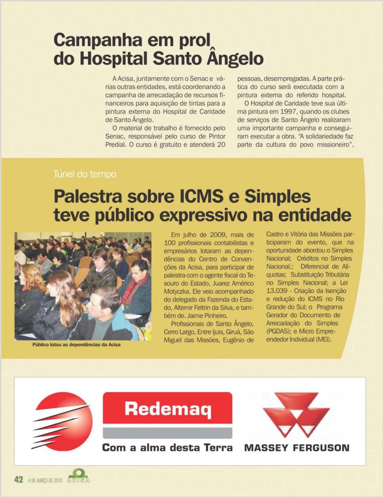 Revista 2010 – ACISA