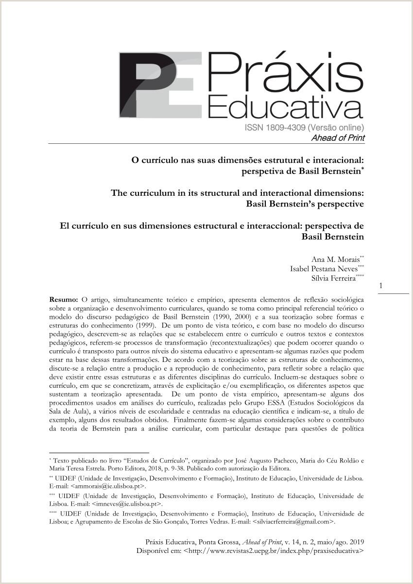 PDF O currculo nas suas dimensµes estrutural e
