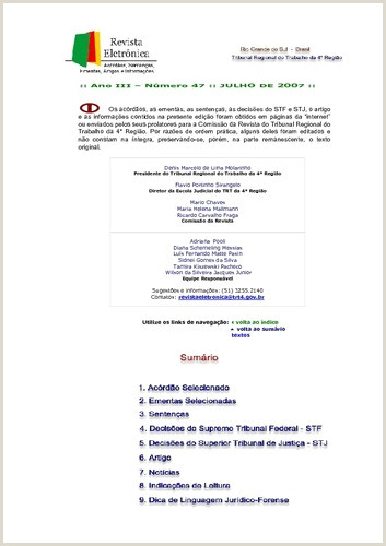 Revista Eletr´nica de Jurisprudªncia nº20 2006 Ano II