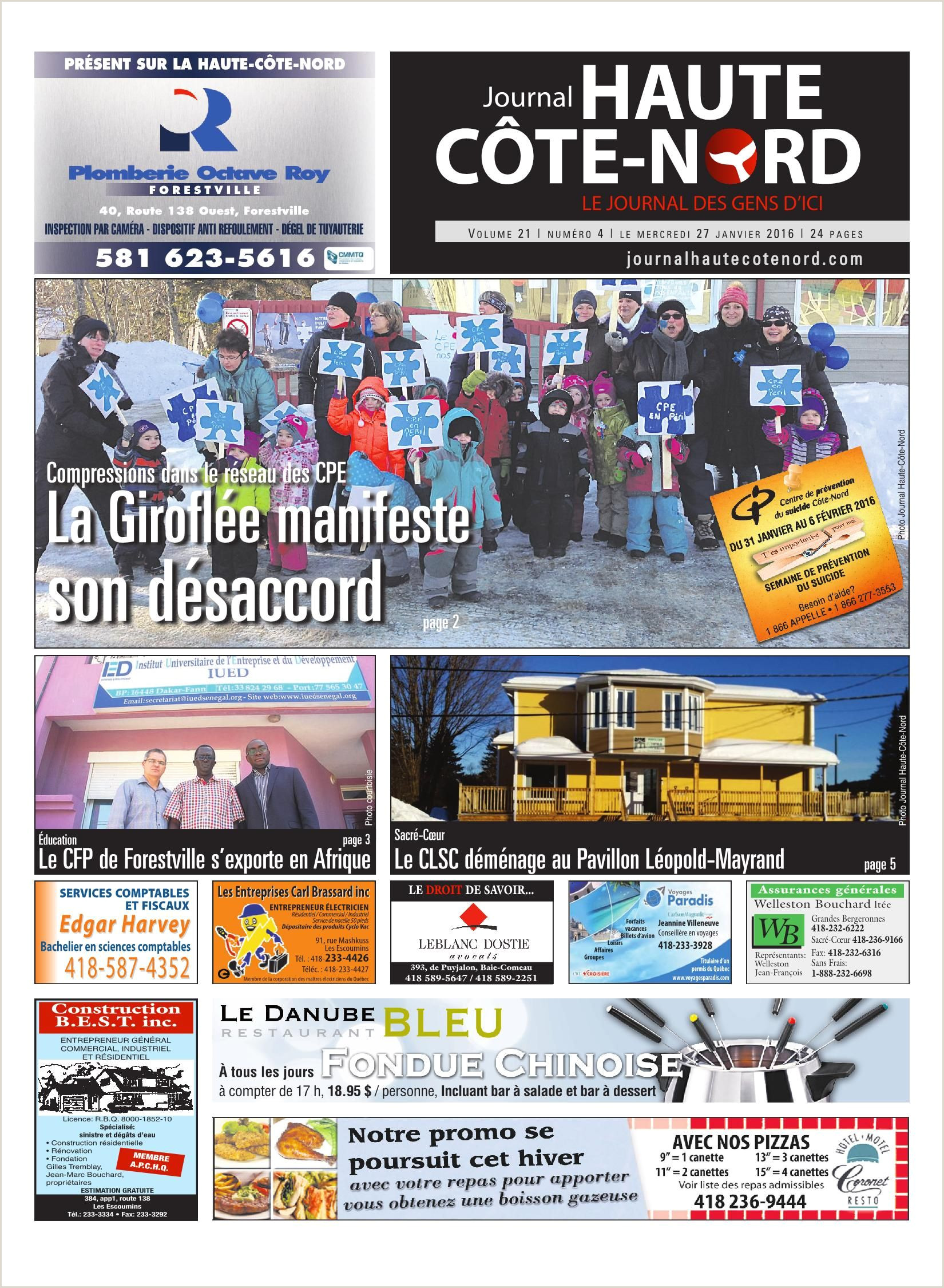 Gerar Curriculo Simples Online Le Haute C´te Nord 27 Janvier 2016 Pages 1 24 Text