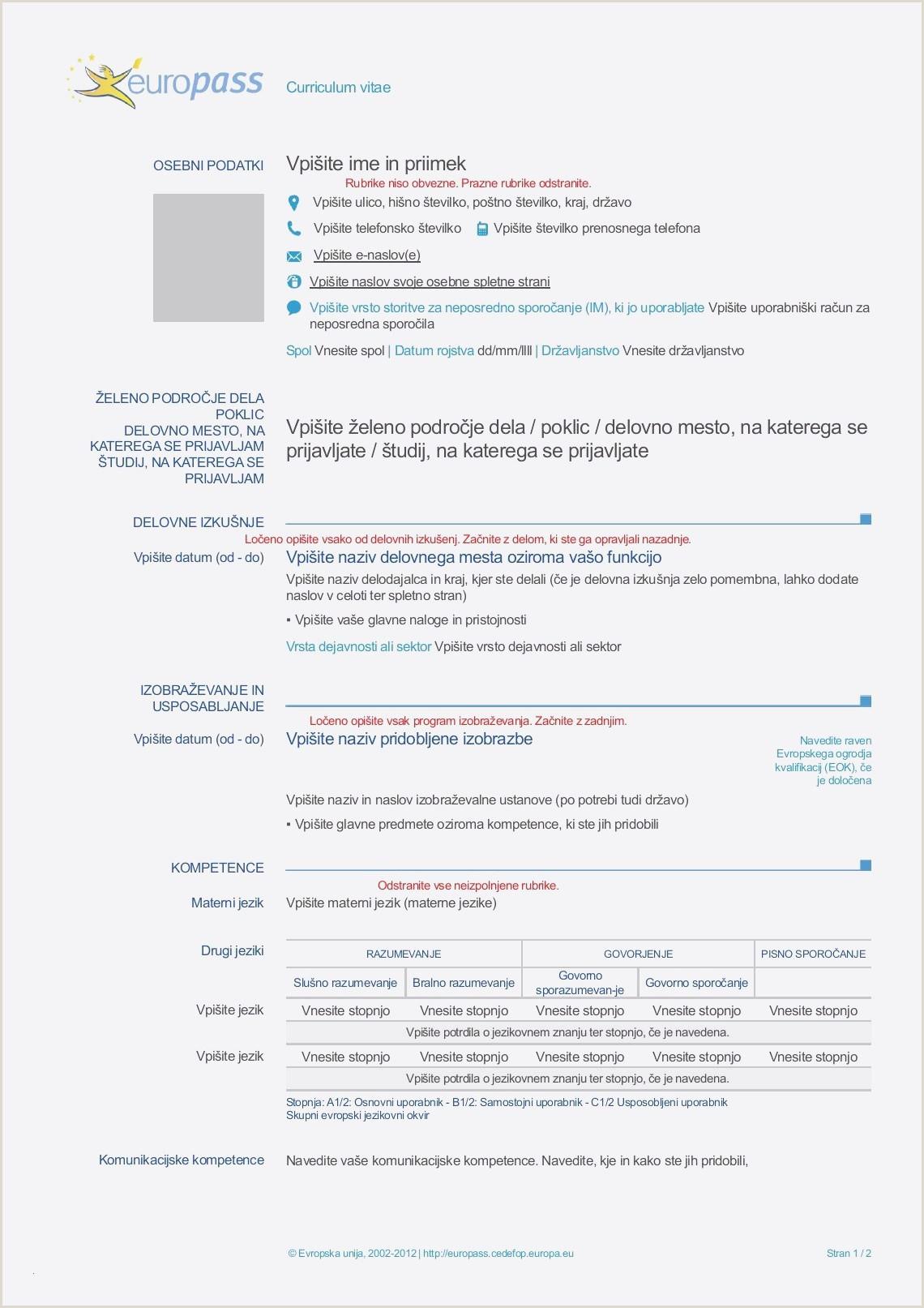 German Standard Cv format Europass Cv English Example Großartig Munication Skills Cv
