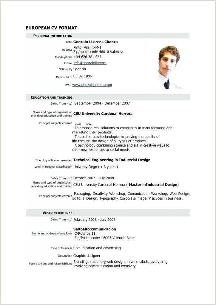 Inspirational German Cv Template For Fa 1 4 Rs Consulting 39