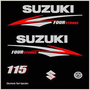 Ghana Standard Cv format Détails Sur 1 Kit Stickers Suzuki 115 Cv Serie 2 Moteur Hors Bord Bateau Autocollant Decals