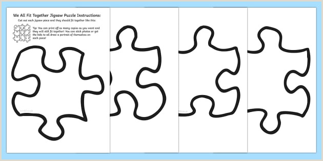 Giant Puzzle Pieces Template Jigsaw Puzzle Piece Template