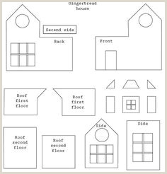 59 Best Gingerbread House Patterns and Templates images