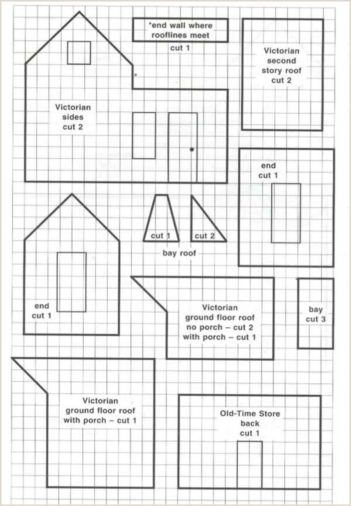 A couple of ginger bread house patterns including dormer