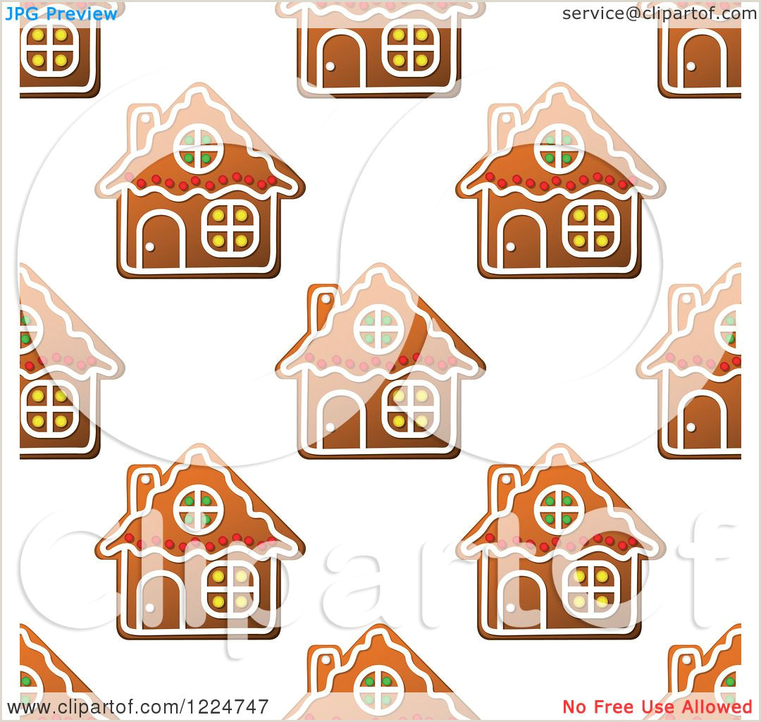 Gingerbread House Template Free Clipart Of A Seamless Pattern Background Of Christmas