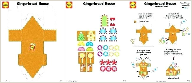 Free Printable Paper Toy Templates Gingerbread House Craft