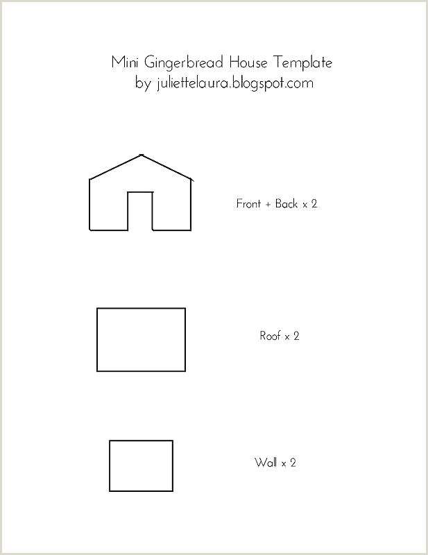 gingerbread house box template