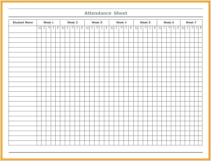 Girl Scout attendance Sheet Template Free Printable attendance Sheets – Gulflifa