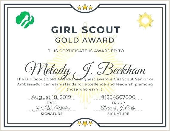 Girl Scout Award Certificate Templates Free Printable Bronze