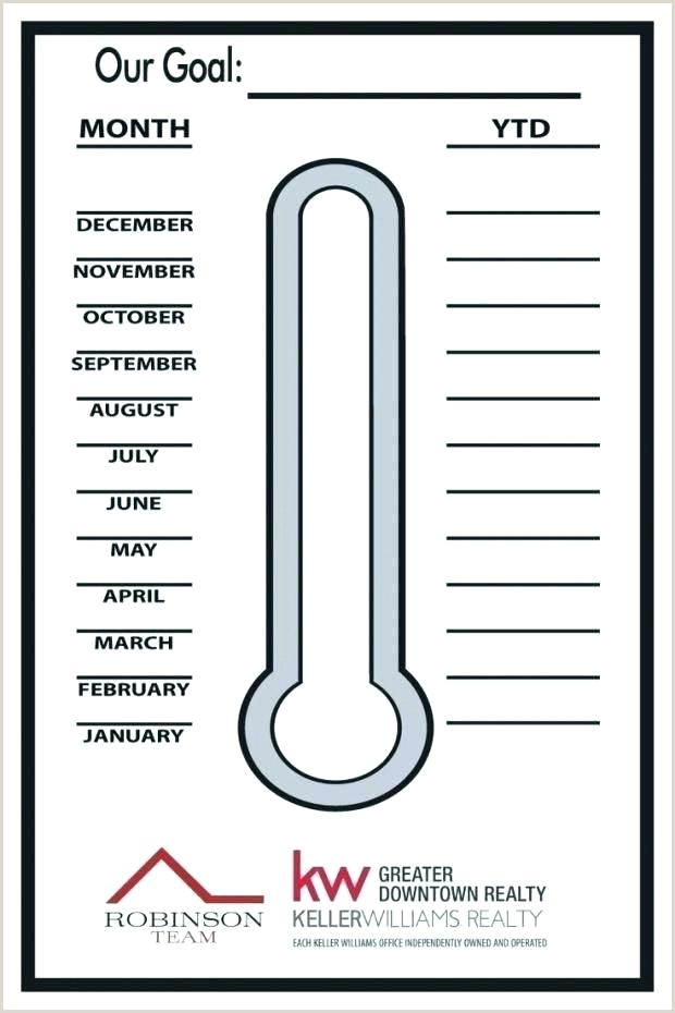 Goal thermometer Template Printable Sales Goal thermometer Template