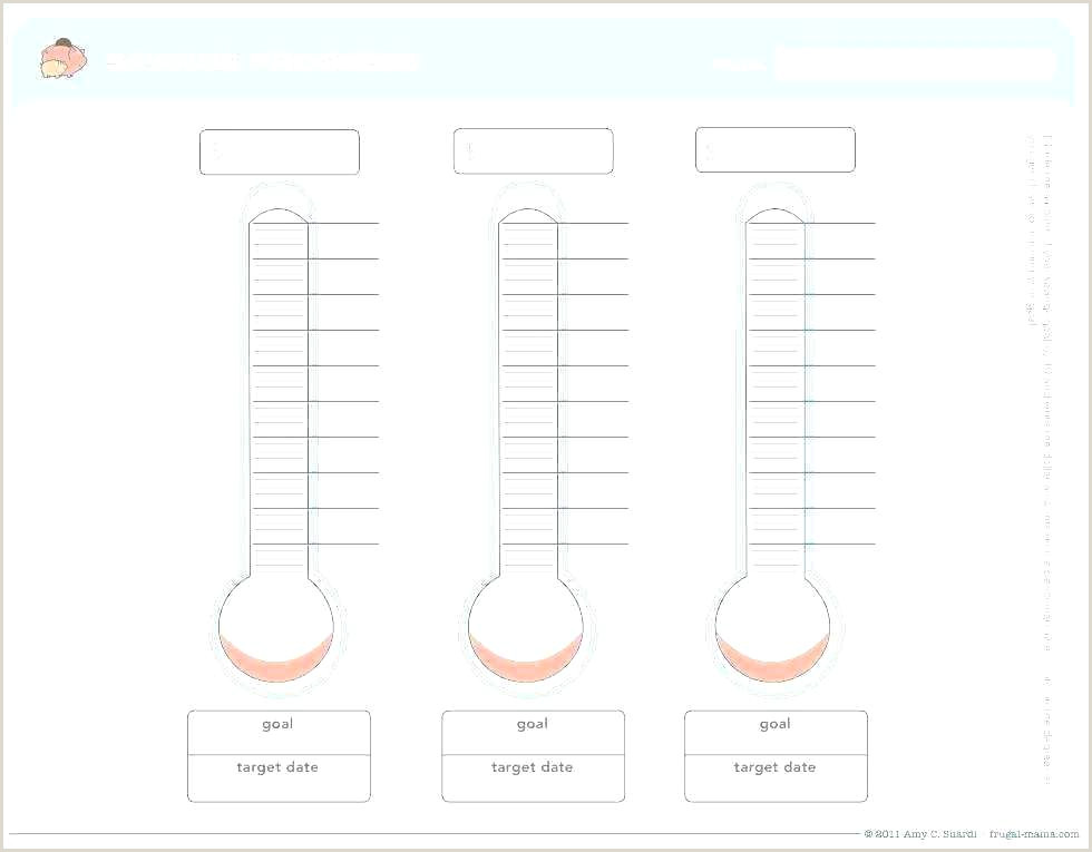 A Blank Thermometer Template For Fundraising Reaching