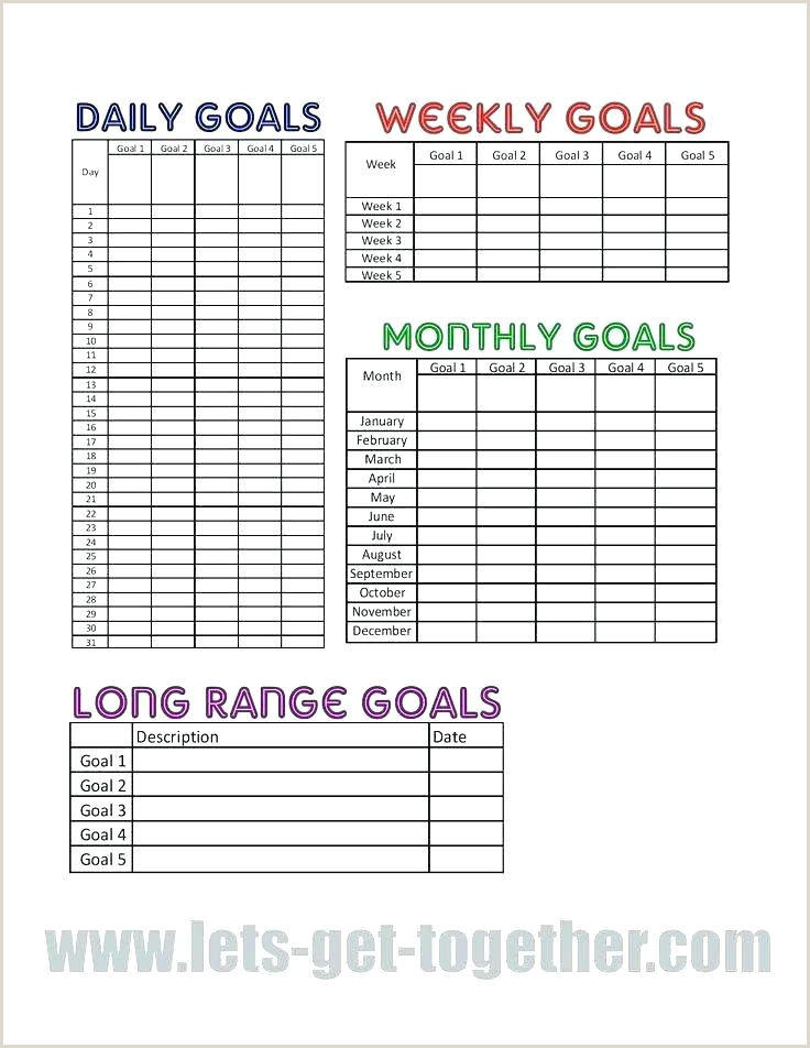 Personal Goal Setting Chart Free Printable Charts Daily