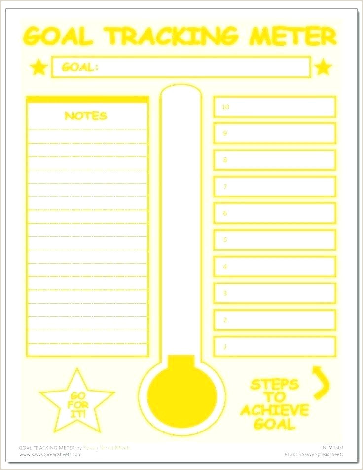 Goal Tracker thermometer Progress thermometer Template Excel Chart Goal Download