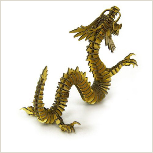 Golden Dragon Gym D torso Papercraft Kit Dragon 133 Ryudan Gold