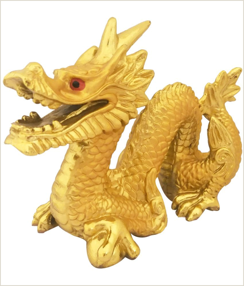 Divya Mantra Feng Shui Golden Dragon Good Luck Symbol for Prosperity Career Success