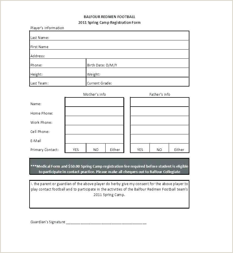 Sign Up Form Template Word Registration Email Free Gym