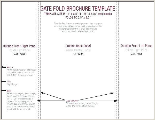 Gate Fold Brochure Template Parallel For Resume Google Docs