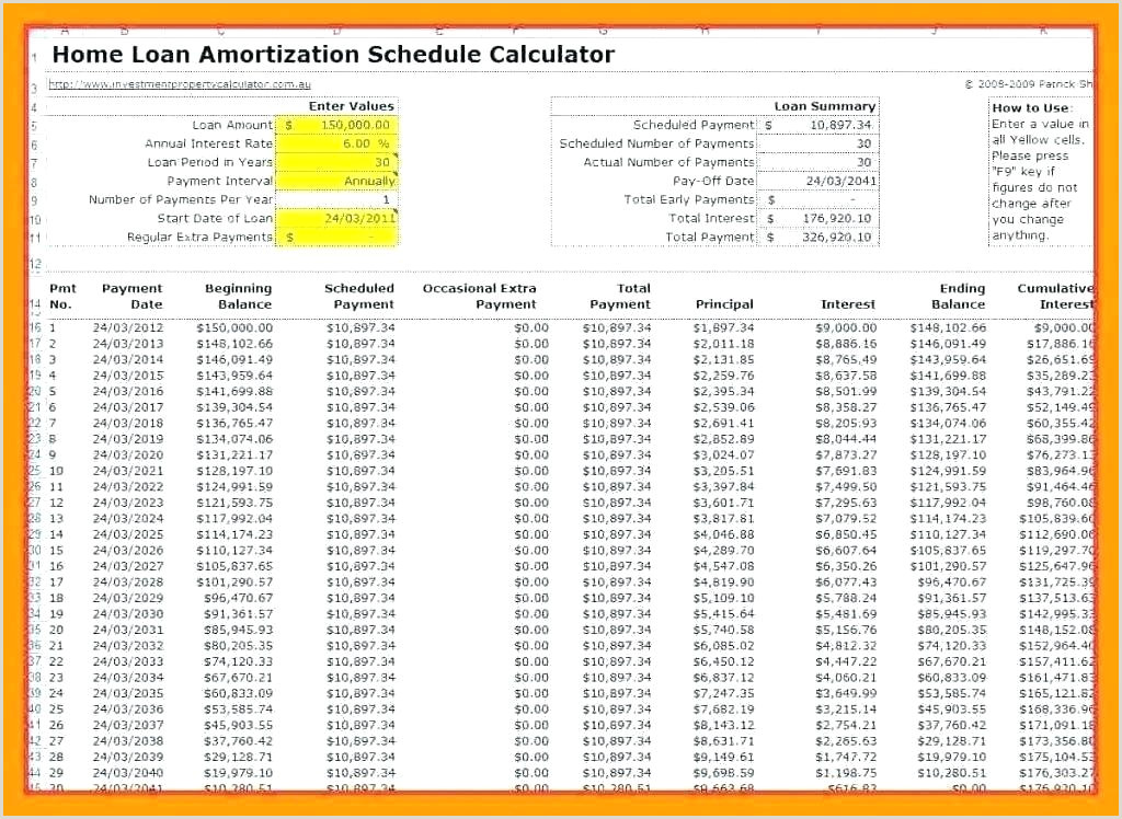 mortgage amortization template – ethercard