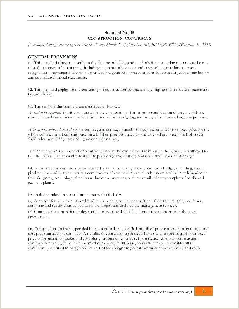Construction Contract Template Free Download Contractors