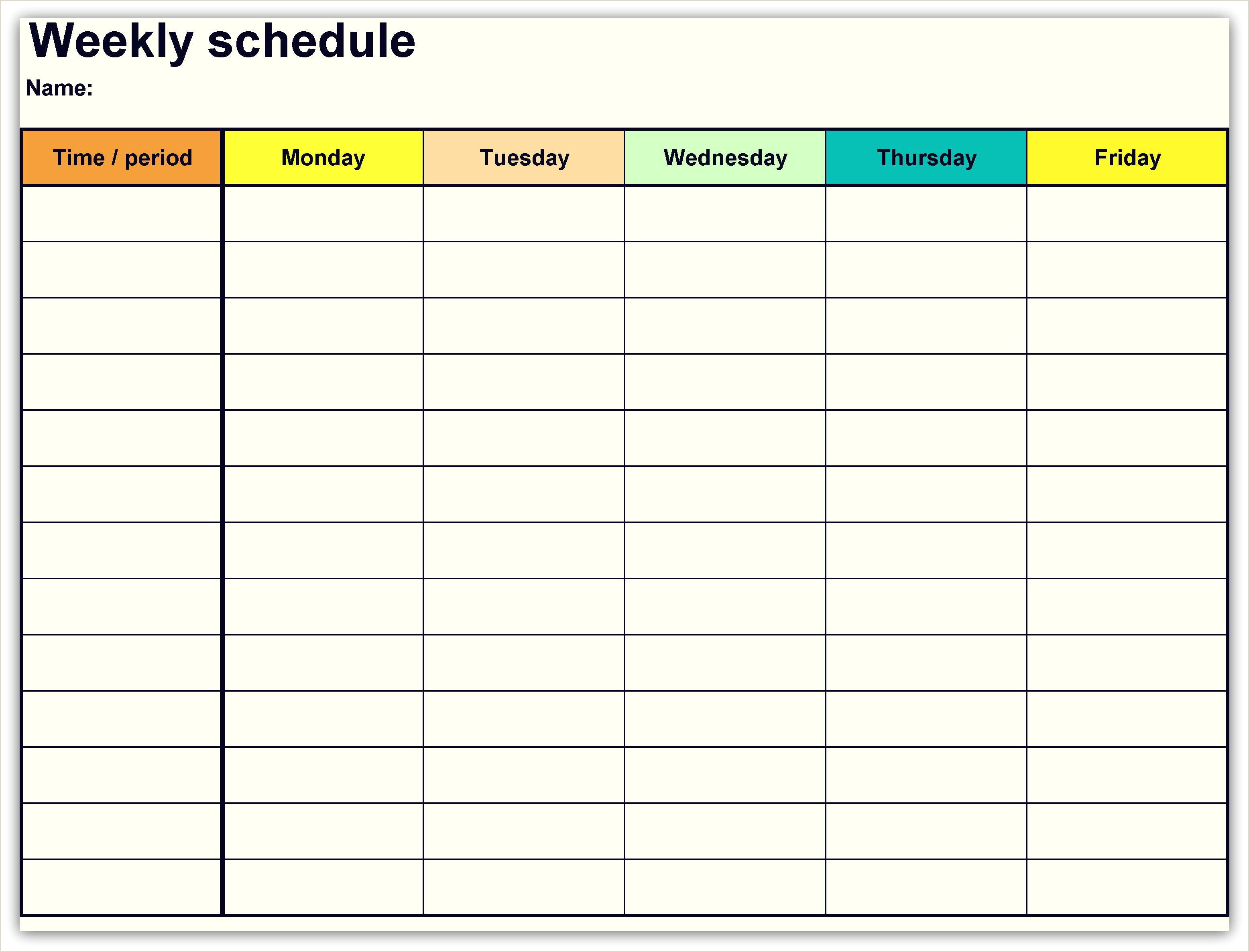 Google Drive Weekly Schedule Template 2018 Weekly Planner Calendar 2018 Calendars