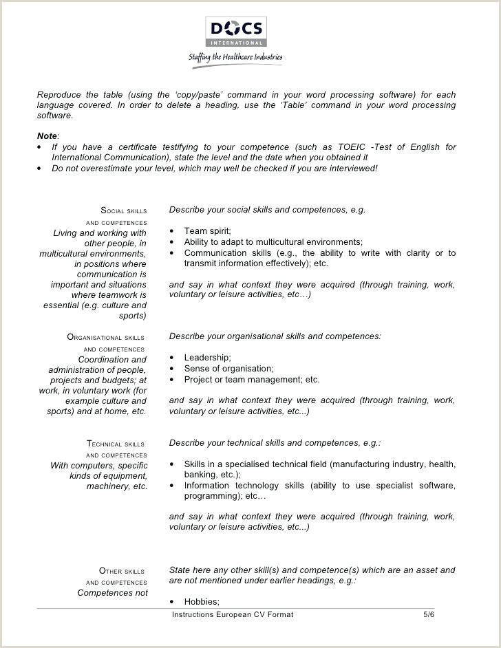 Curriculum Vitae Format Genial Din Eu Cv Template Download